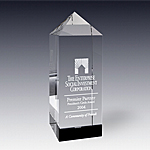 empire obelisk tower crystal award