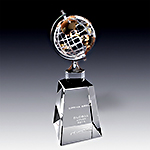 Global Achievements crystal award Plaque