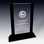 rectangular crystal award plaque