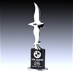 crystal and chrome plated eagle award