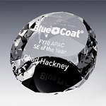 crystal round  paperweight