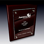 vertical rosewood plaque award