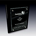 vertical black plaque award