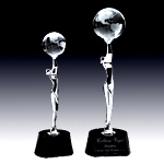 crystal and chrome Goddess of Universe award