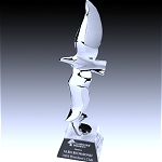 chrome plated eagle award