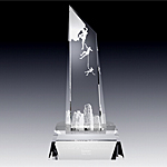Conquer New Heights crystal award
