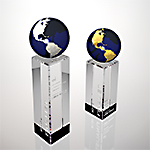 global edge crystal award