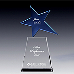 Blue star crystal award