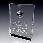 global legend crystal award plaque