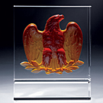amber eagle crystal award
