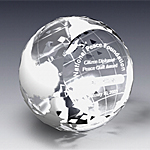 diamond gemcut crystal paperweight