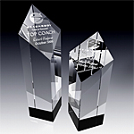 diamond tower award trophy